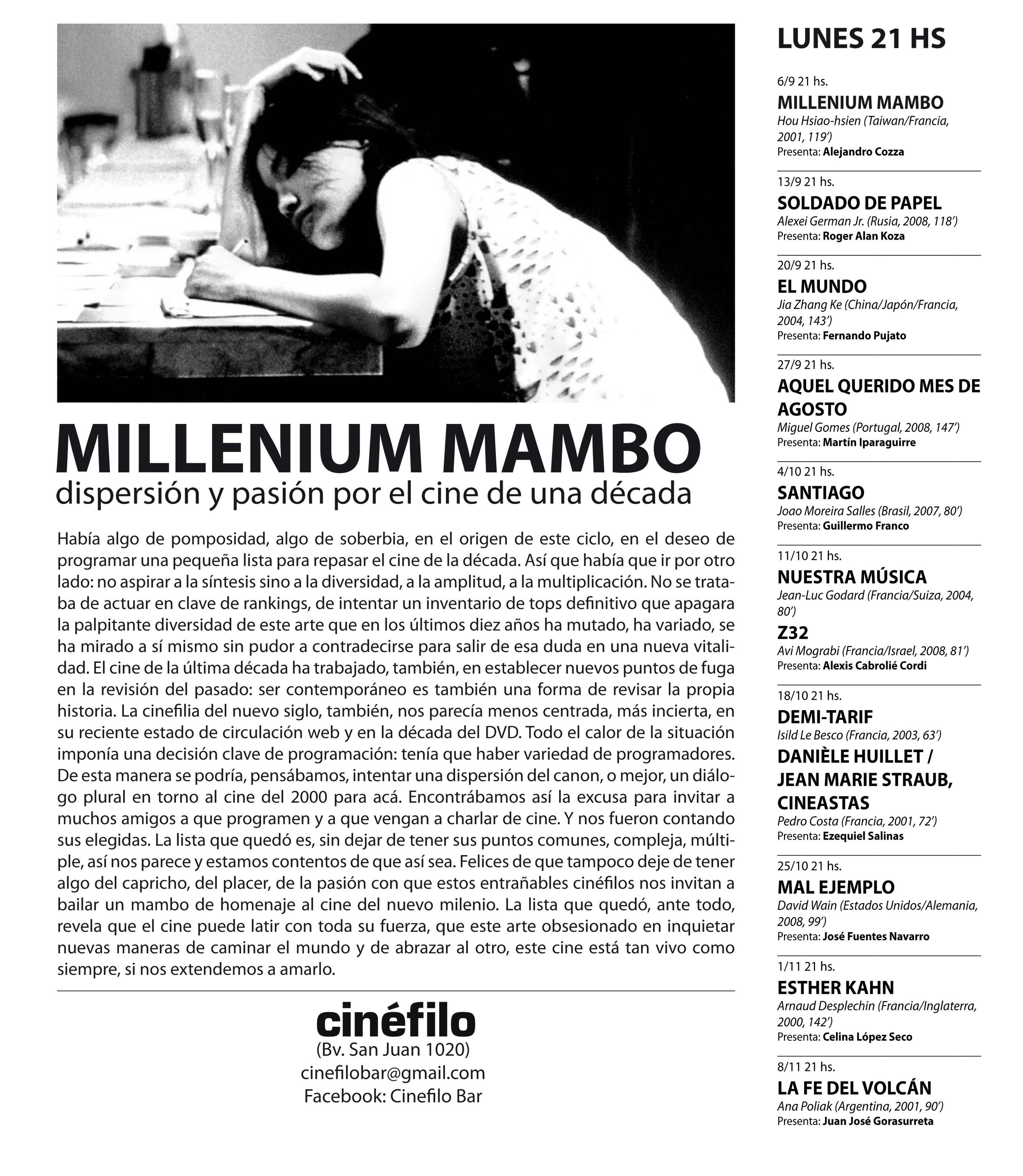 Mambo Y Pistolas Flyer Millenium Mambo
